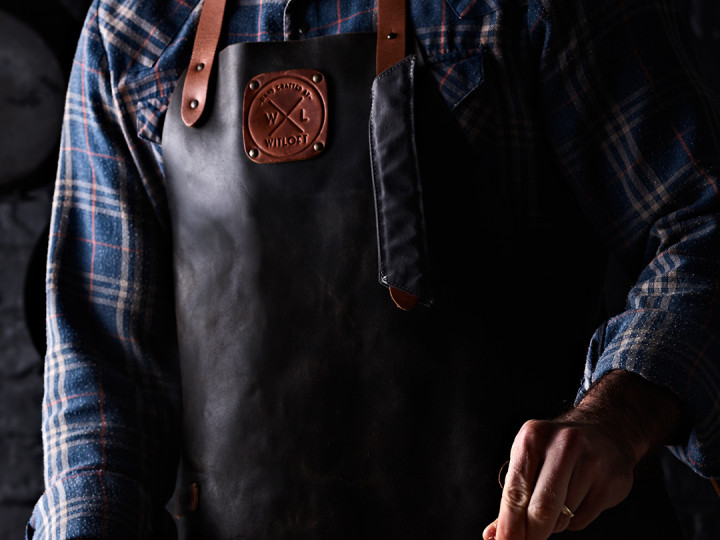 Men's Witloft Apron – Black and Cognac