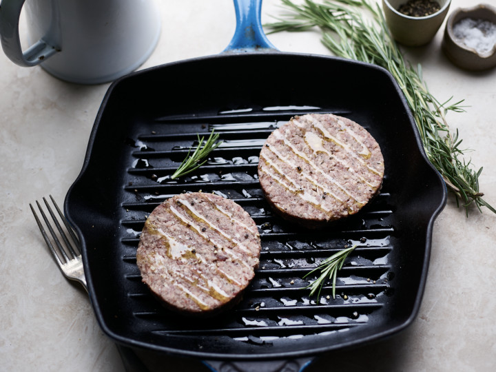 Mutton, Rosemary and Garlic Burgers [GF]