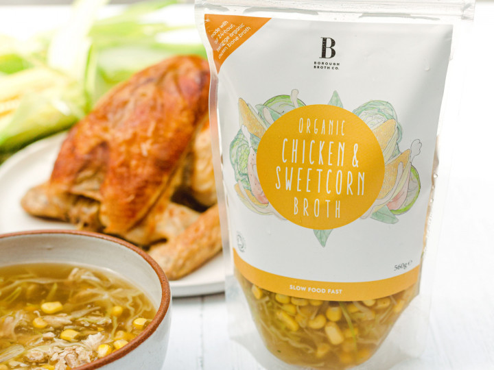 Organic Chicken & Sweetcorn Broth