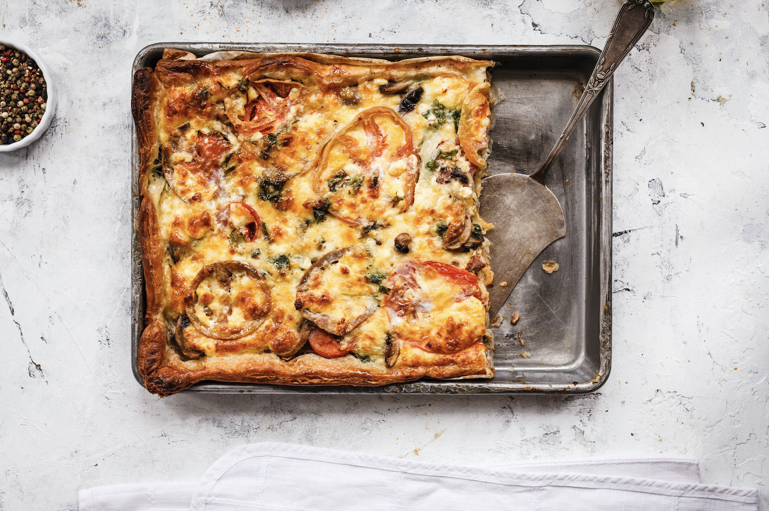 Smoked Haddock and Tomato Quiche