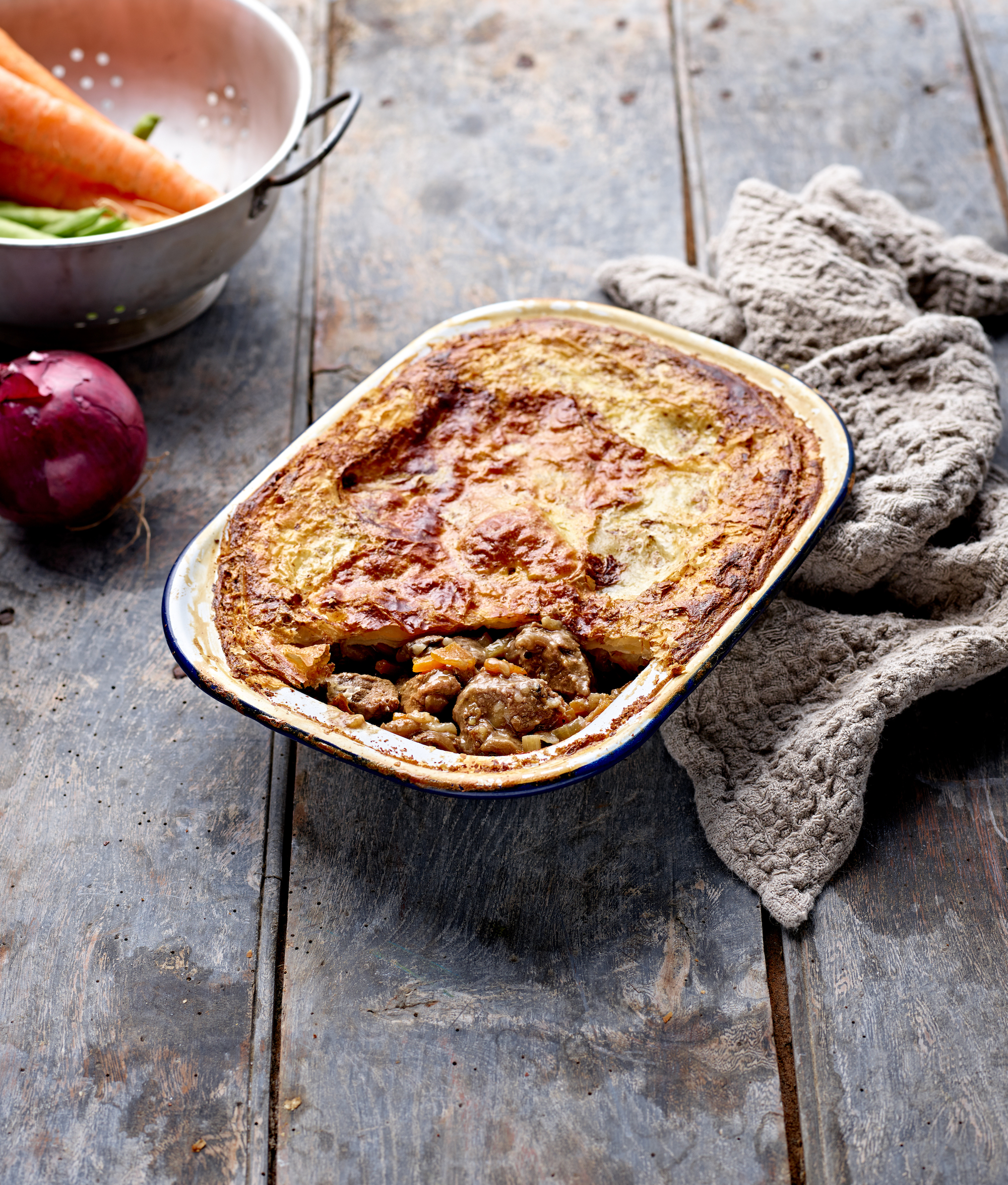 Steak & Stilton Puff Pastry Pie