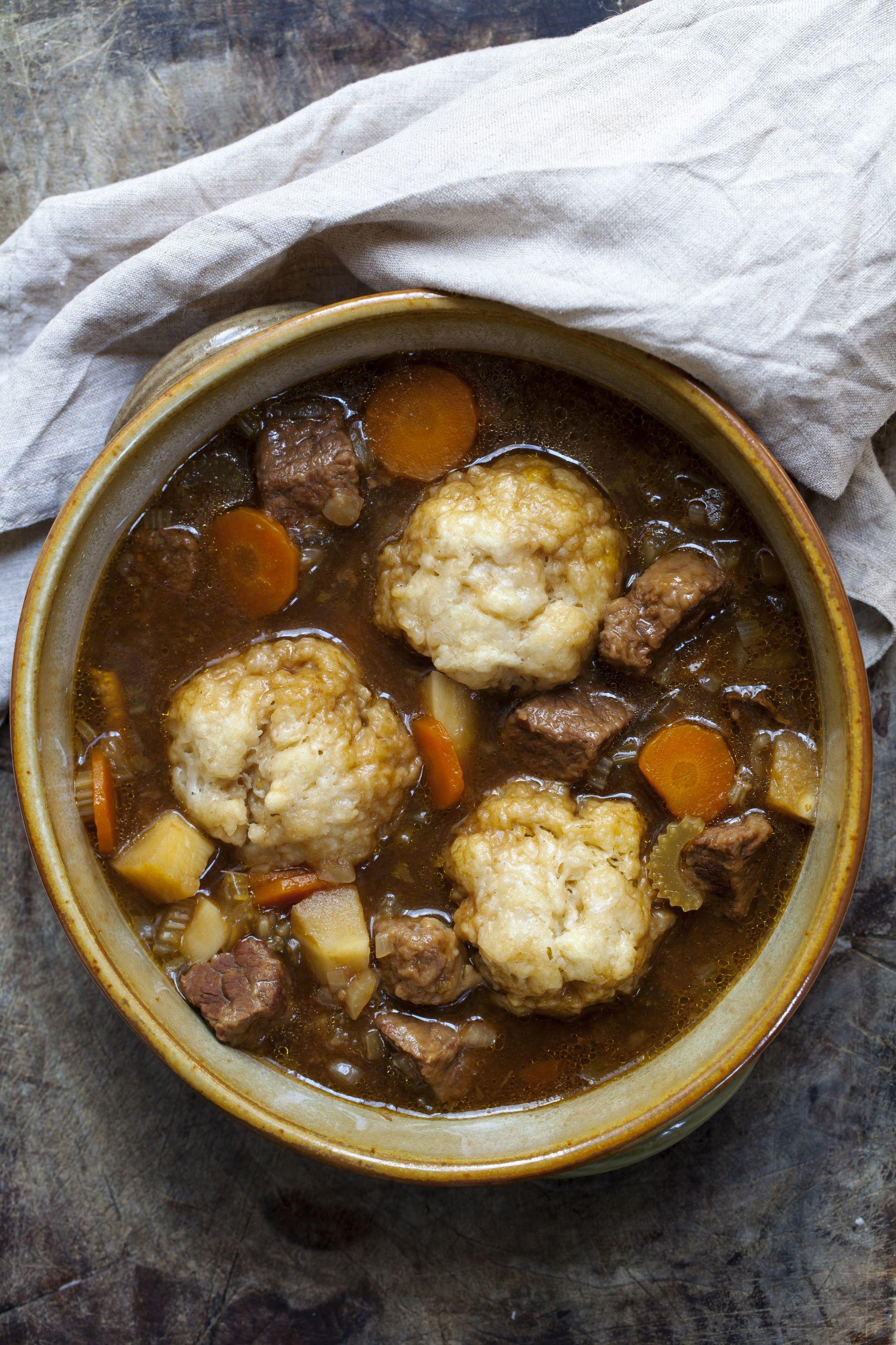 Beef Stew With Dumplings Recipe Coombe Farm Organic