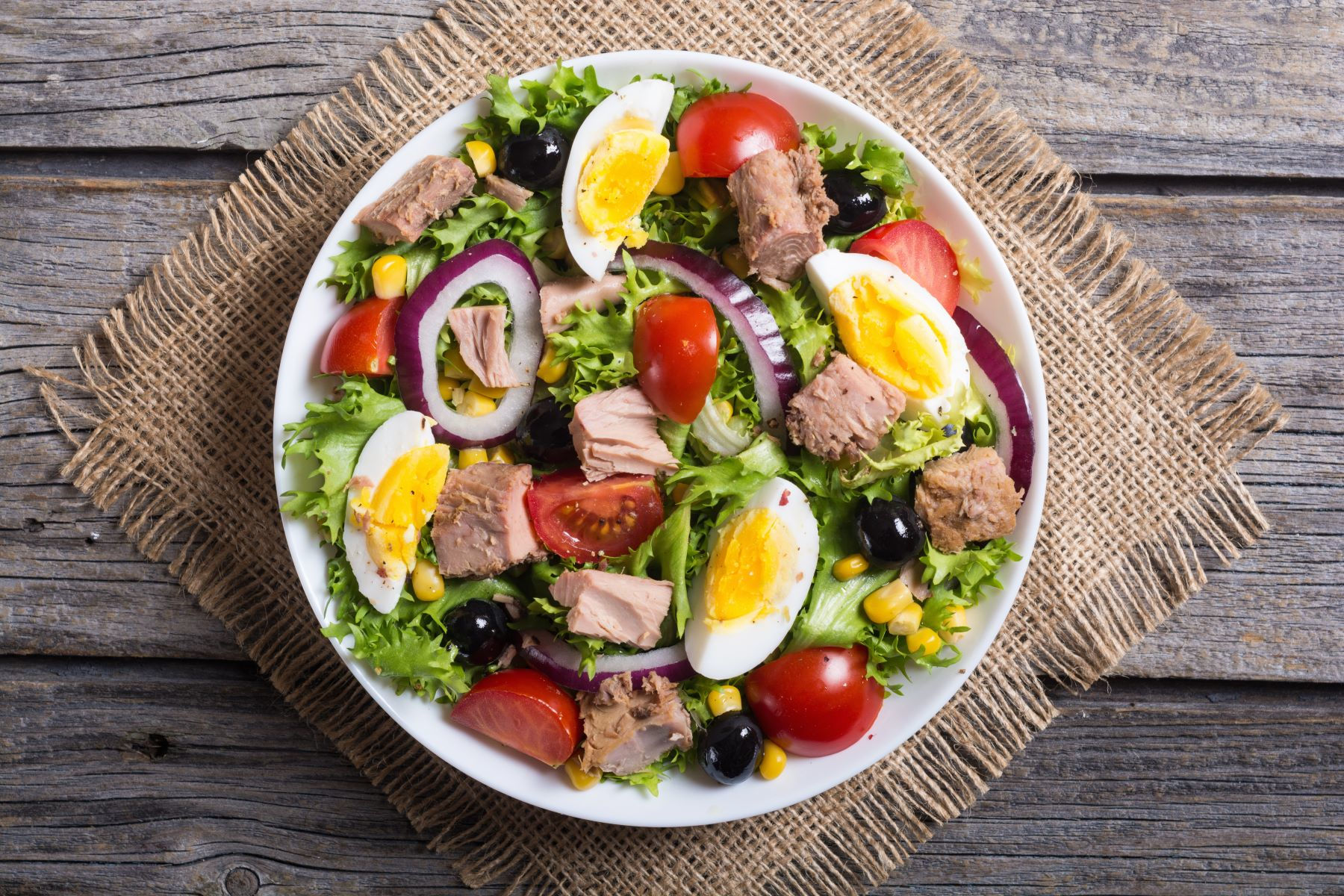 Tuna Fillet Nicoise Salad