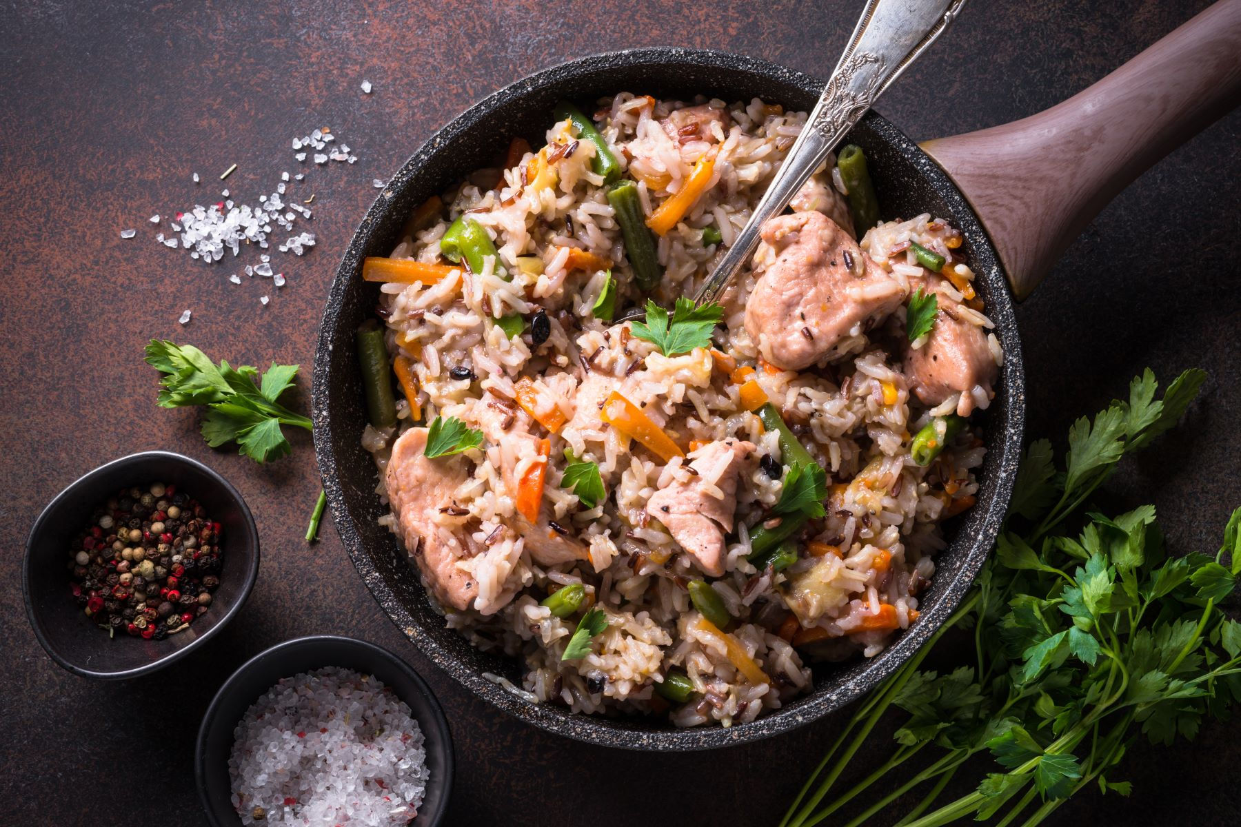 Turkey Risotto with Bubble & Squeak